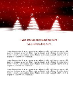 Fir Tree Theme Word Template, Cover Page, 04165, Holiday/Special Occasion — PoweredTemplate.com