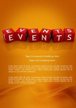 Events Word Template Cover Page