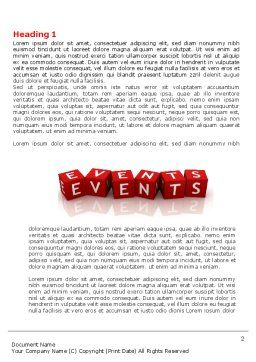 Events Word Template First Inner Page