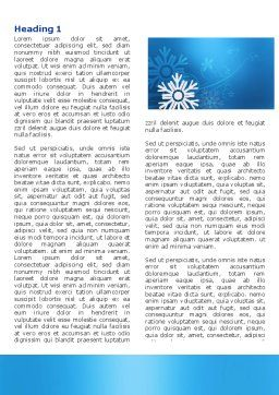 Snowflake Theme Word Template, First Inner Page, 04167, Holiday/Special Occasion — PoweredTemplate.com