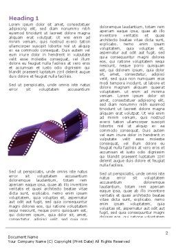 Film Strip In Purple Color Word Template First Inner Page