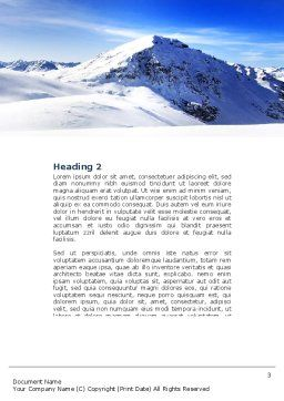 Skis Word Template, Second Inner Page, 04169, Sports — PoweredTemplate.com