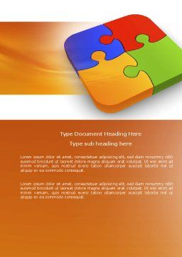 Jigsaw Pieces Word Template, Cover Page, 04170, Business Concepts — PoweredTemplate.com