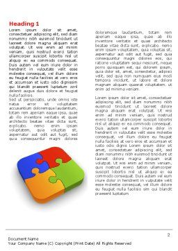 Jigsaw Pieces Word Template, First Inner Page, 04170, Business Concepts — PoweredTemplate.com
