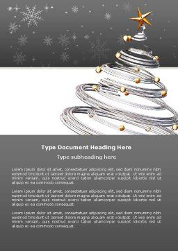 New Year Tree Word Template, Cover Page, 04174, Holiday/Special Occasion — PoweredTemplate.com