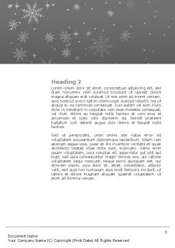 New Year Tree Word Template, Second Inner Page, 04174, Holiday/Special Occasion — PoweredTemplate.com