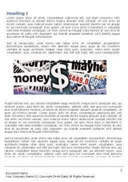 Money Assets Word Template, First Inner Page, 04179, Financial/Accounting — PoweredTemplate.com