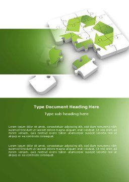 Recycle Technology Word Template, Cover Page, 04181, Business Concepts — PoweredTemplate.com