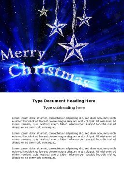 Blue Christmas Word Template, Cover Page, 04182, Holiday/Special Occasion — PoweredTemplate.com