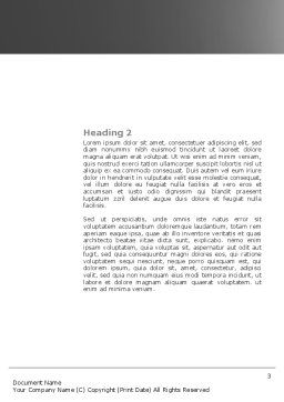 Pull Word Template, Second Inner Page, 04183, Consulting — PoweredTemplate.com