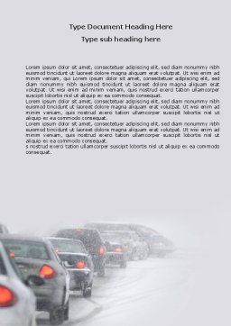 Snowstorm Word Template, Cover Page, 04185, Cars/Transportation — PoweredTemplate.com
