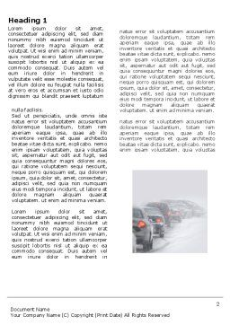 Snowstorm Word Template, First Inner Page, 04185, Cars/Transportation — PoweredTemplate.com