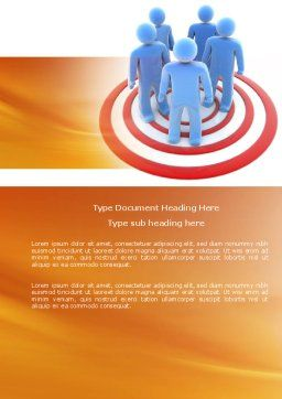 Target Audience Word Template, Cover Page, 04187, Consulting — PoweredTemplate.com