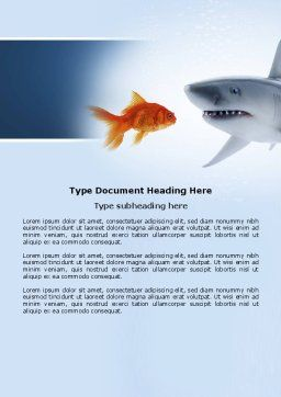 Predator and Prey Word Template, Cover Page, 04188, Business Concepts — PoweredTemplate.com
