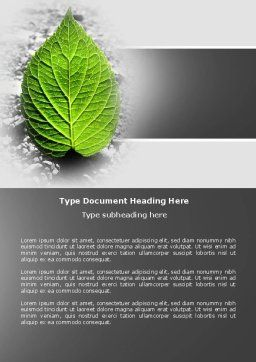 Green Idea Word Template Cover Page