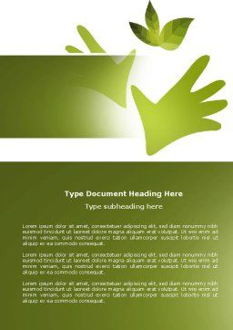 Helping Nature Word Template, Cover Page, 04194, Nature & Environment — PoweredTemplate.com