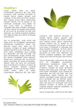 Helping Nature Word Template, First Inner Page, 04194, Nature & Environment — PoweredTemplate.com
