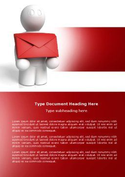 Email Delivery Word Template, Cover Page, 04195, Careers/Industry — PoweredTemplate.com