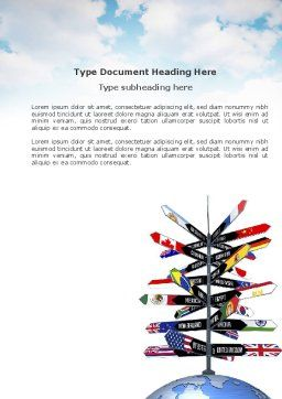 Travel Directions Word Template, Cover Page, 04196, Global — PoweredTemplate.com