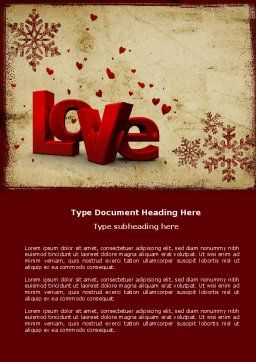 Free Christmas Love Word Template, Cover Page, 04198, Holiday/Special Occasion — PoweredTemplate.com