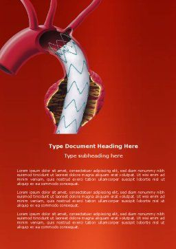 Aortic Aneurysm Word Template, Cover Page, 04202, Medical — PoweredTemplate.com