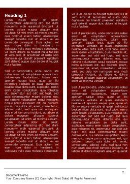 Aortic Aneurysm Word Template, First Inner Page, 04202, Medical — PoweredTemplate.com