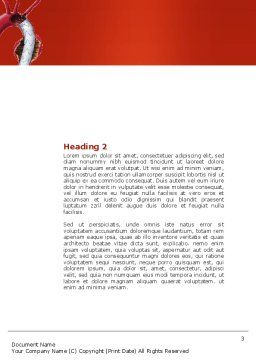 Aortic Aneurysm Word Template, Second Inner Page, 04202, Medical — PoweredTemplate.com