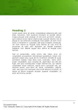 Green Car Word Template, Second Inner Page, 04204, Nature & Environment — PoweredTemplate.com