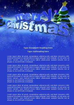Free Happy Christmas Theme Word Template, Cover Page, 04205, Holiday/Special Occasion — PoweredTemplate.com