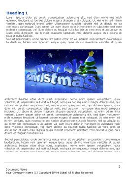 Free Happy Christmas Theme Word Template, First Inner Page, 04205, Holiday/Special Occasion — PoweredTemplate.com