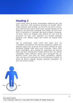 Organization Structure Word Template, Second Inner Page, 04207, Consulting — PoweredTemplate.com