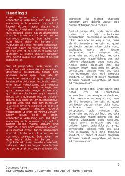Red White Pills Word Template, First Inner Page, 04208, Medical — PoweredTemplate.com