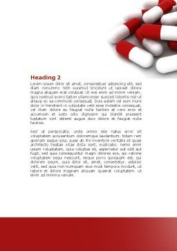 Red White Pills Word Template, Second Inner Page, 04208, Medical — PoweredTemplate.com