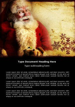 Free Santa Claus Word Template, Cover Page, 04212, Holiday/Special Occasion — PoweredTemplate.com