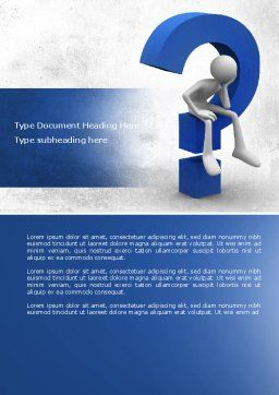 Unsolved Issue Word Template, Cover Page, 04213, Consulting — PoweredTemplate.com