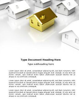 Private House Word Template, Cover Page, 04214, Construction — PoweredTemplate.com