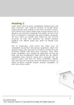 Private House Word Template, Second Inner Page, 04214, Construction — PoweredTemplate.com