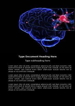 Brain Receptor Word Template, Cover Page, 04218, Medical — PoweredTemplate.com