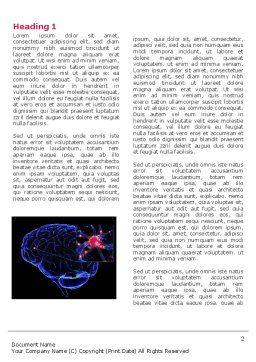Brain Receptor Word Template, First Inner Page, 04218, Medical — PoweredTemplate.com