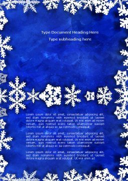 Winter Theme Word Template, Cover Page, 04220, Holiday/Special Occasion — PoweredTemplate.com