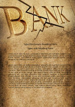 Bank Bankruptcy Word Template Cover Page