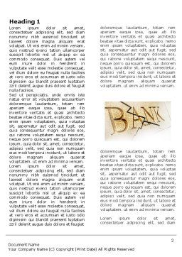 Bank Bankruptcy Word Template First Inner Page