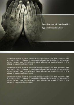 Sorrow Word Template, Cover Page, 04222, People — PoweredTemplate.com