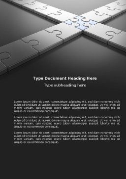 Junction Word Template, Cover Page, 04224, Business Concepts — PoweredTemplate.com