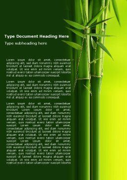 Bamboo Grove Word Template, Cover Page, 04227, Nature & Environment — PoweredTemplate.com