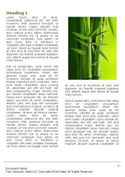 Bamboo Grove Word Template, First Inner Page, 04227, Nature & Environment — PoweredTemplate.com