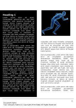 Start Position Word Template, First Inner Page, 04229, Sports — PoweredTemplate.com