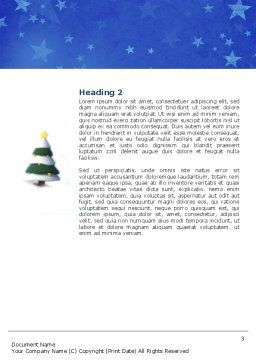 Christmas Tree On The Blue Snow Word Template, Second Inner Page, 04231, Holiday/Special Occasion — PoweredTemplate.com