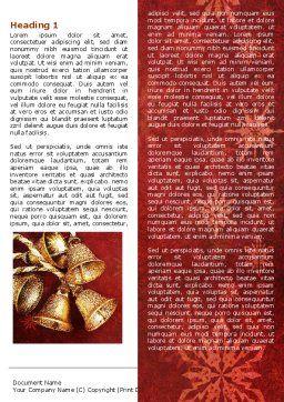Christmas Bells Word Template, First Inner Page, 04233, Holiday/Special Occasion — PoweredTemplate.com