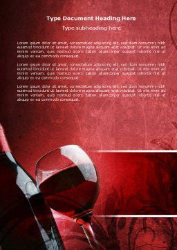 Wine Glass Word Template, Cover Page, 04235, Food & Beverage — PoweredTemplate.com